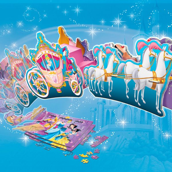 2d Puzzle to 3d Princess Carriage