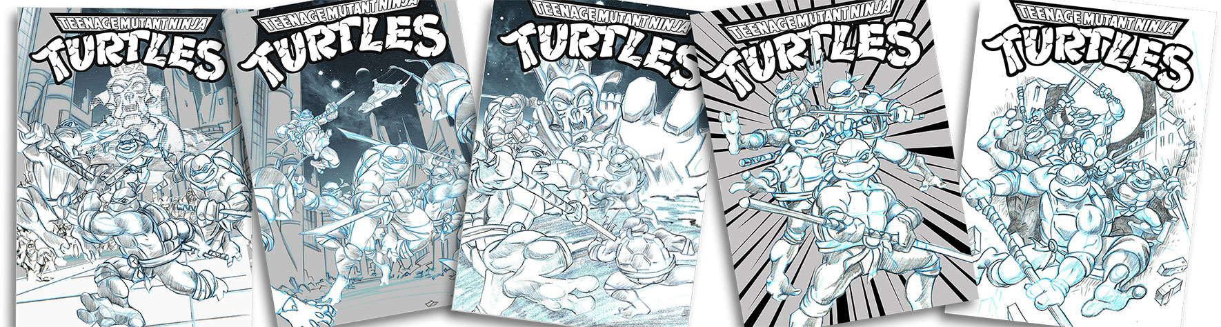 TMNT DVD Illustration  concept sketches