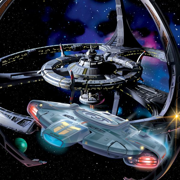 Deep Space Nine with Defiant