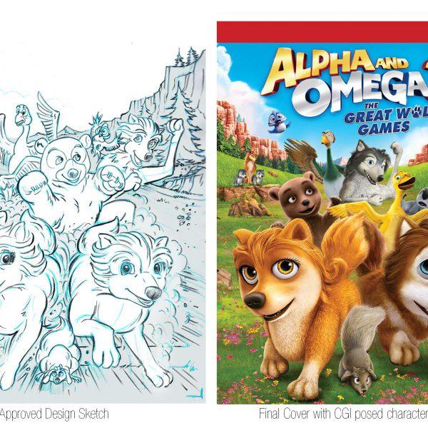 Alpha and Omega Video Packaging Illustration