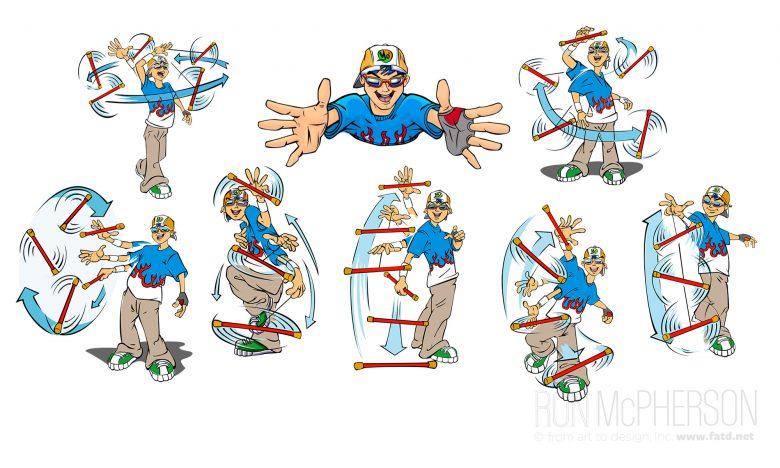 Yo' Stix Character design