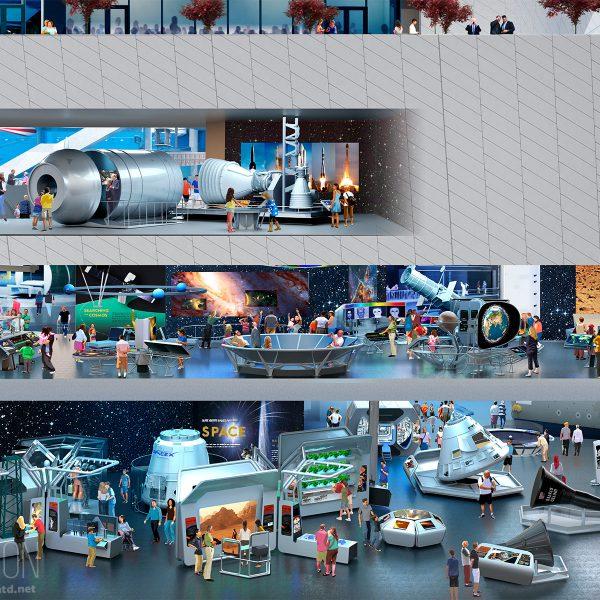 Cutaway view of SPACE galleries