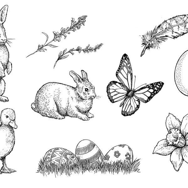 Easter Line art